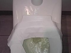 Highway bathroom dirty pee