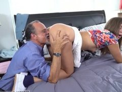 Teen gets bbc anal Liza and Glen hammer the