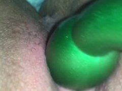 Using a toy on my creamy tight pussy