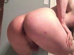 Bathroom farts (guy farting)