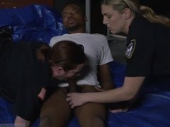 Sucking cops dick and brunette in police