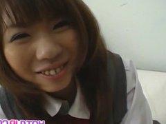 Slutty schoolgirl babe Misa Kurita gets her