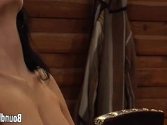 Lesbian Slave Crucified And Whipped Hard