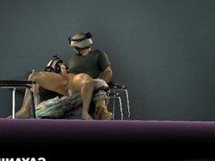 3D soldier sucks and fucks