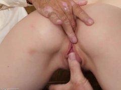 Old women bondage Frankie heads down the
