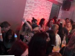 Party babes sucking cock at orgy party