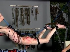 Gay twink bondage  clips and crucified