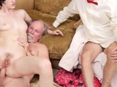 Old erik and old men licking young pussy