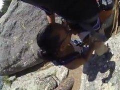 Blowjob along the hike trail. Araceli from DATES25.COM