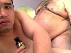 Chub Daddy Bear and His Young Latin Cub Skype Fuck for a Friend