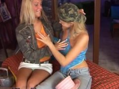 Beautiful blonde lesbian teens hd Two sugary-sweet blondie lesbians
