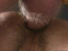 Cum on barebacked ass