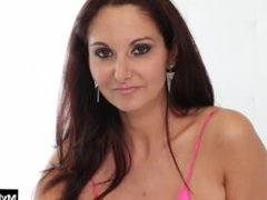 Sexy brunette MILF with big boobs, Ava Addams, gets it on with a