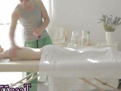 Teen gangbang creampie Mirta gets a voluptuous massage