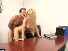 Cathy Heaven is in charge in this scene from My Boss Is A