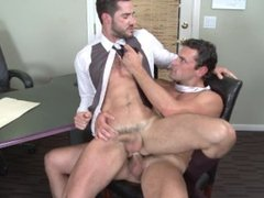Men.com - Suited To Fuck - Dean Monroe Fucked by his Boss Jeremy Bilding