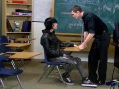 Behind the scene, in class with teacher having sex with student