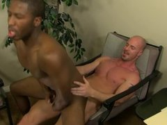 Interracial love at the office with JP Richards and Mitch Vaughn