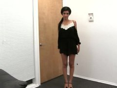 Gorgeous Ebony Babe Assfucked on Casting Couch