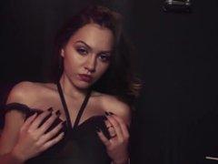 LJasmin XbOOb Teazer - KaraSpice seXy black lingerie dance strips topless
