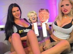 Donald Trump vs Hillary Clinton - Grab Em' By The Pussy with Nevaeh and Tia
