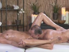 George and Lola's sexy massage