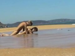 Boyfriends enjoy sex on the beach