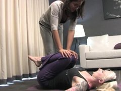 Yoga Girls Lesbian Foot Licking and Toe Sucking