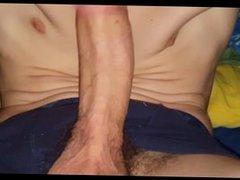 Deep selfsuck cumshot and swallow