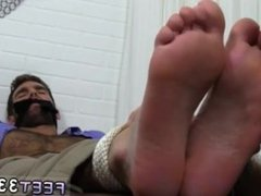 Gay asian feet Chase LaChance Tied Up, Gagged & Foot Worshiped