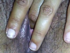 Playing with my creamy pussy