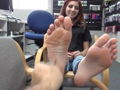 Feet Show In The Shop
