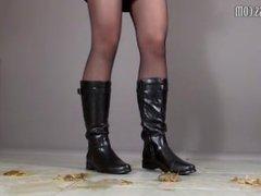 low heel boots
