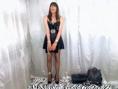 Dana T-girl cumming for her boyfriend