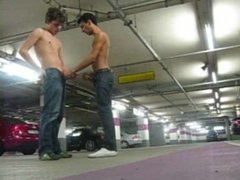 Jerking off in the carpark