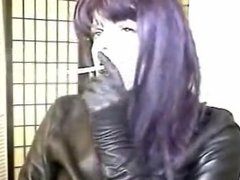 smoking leather gloves