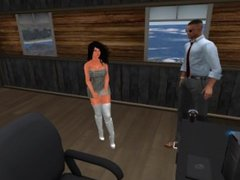 Fred Adjani qui discute avec une collegue virtuelle