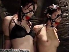 water bondage: Justine Joli and Sarah Blake