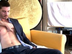 The handsome banker get serviced by a guy!