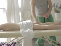 Backroom teen creampie snapchat Mirta gets a sensual massage