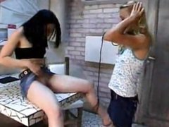Lesbian Ponygirl licks ass and pussy