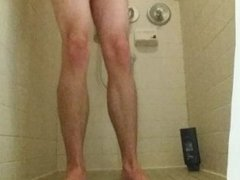 19yo Jerking Off and Fingering Ass in Dorm Shower
