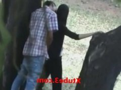 Russian Girl Getting Fucked by lover in Public Park