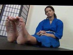 Maria's karate feet