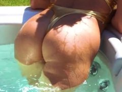 Dannii in the Jacuzzi