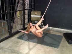 She's Bound Up and Can't Break Free Writhing on the Floor