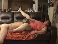 Horny Elder Couple on a sexual intercourse