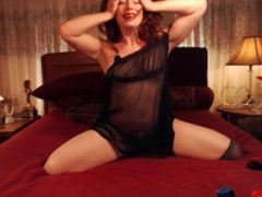 LittleRedBunny Freechat hot tease with see-through and boobslip 10-11-2016