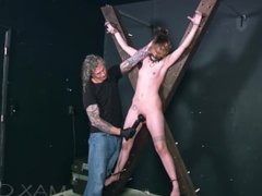 Vibed on a Cross, Mind Shattering Orgasms Wrack this Inked Sub