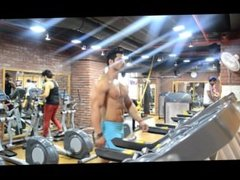 indian muscle men bluge in gym